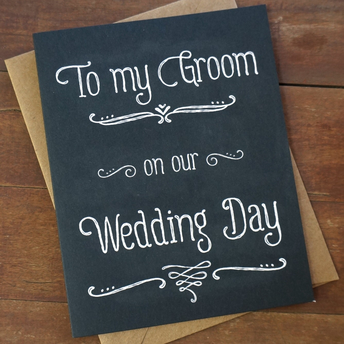 Groom Gift From Bride to Groom Card To My Groom On Our Wedding