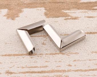 10pcs Silver Corners -25mm Decorative Book Corner Protector Metal Corner Protector Tips Decorative Corner Bracket Handbag Craft Hardware