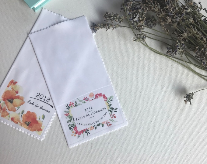 Set of 35 Floral Pioneer Service School Gift - Lens Cloth French