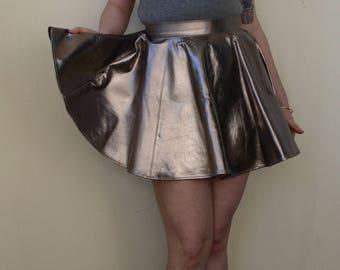 Metallic flare skirt- S/M