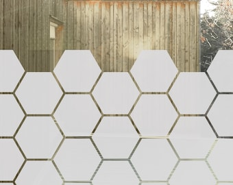 Honeycomb Window Film for Sidelights, Privacy Window Film, Privacy Glass Decal, Geometric Window Decor, Honeycomb Glass Door Privacy Film