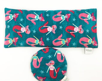 Kid's Heating Pad / Pink and Blue / Corn Bag Gift Set / Mermaids