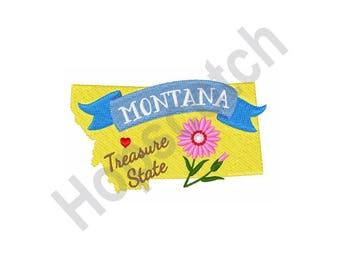 Montana - Machine Embroidery Design, Treasure State
