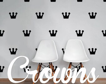 Crowns Wall Decal Pack, Vinyl Wall Sticker Decal Art Pattern WAL-2185