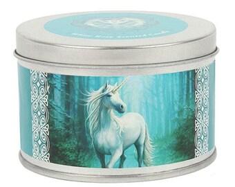 Glimpse of a unicorn candle