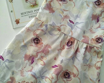 Girls dress // handmade // dress // floral // spring // size 1 // baby clothes // kids clothes