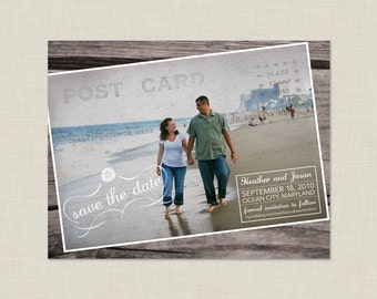 Postcard Save the Date / Vintage Save the Date / Beach Save the Date