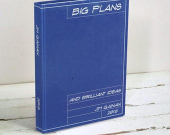 Architect etsy blueprint personalized journal big plans journal blank book gift for architect builder malvernweather Image collections