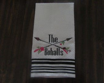 Embroideried kitchen towel