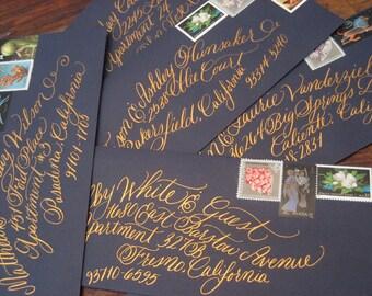 Wedding Calligraphy Invitation Envelope Addressing,The San Francisco Style