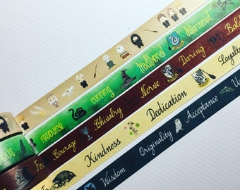 Harry Potter, Hogwarts And All Four Houses, Designer Washi Tape, Samples