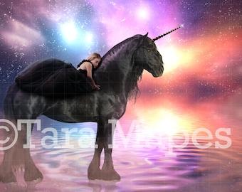 Black Unicorn Digital Background
