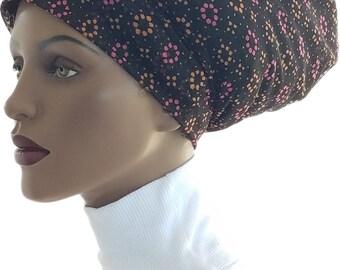 Huggee Locks Beanie™ Beanie Cap Hat Semi Sheer Mesh Knit Pink Black Orange Rasta Dread locs Tam Rastafari Dreadie Handmade