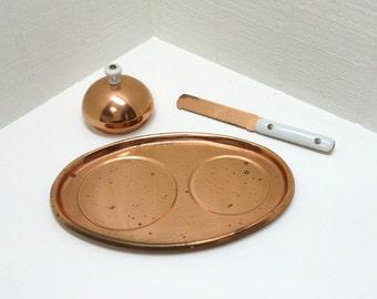 Vintage Copper Tray Baker Hart Stuart Tray