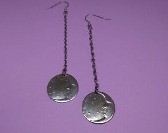 Moon Earrings, Shoulder Duster Earrings, Long Earrings, Fashion Jewelry*Free Shipping & Handling!