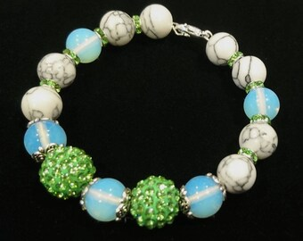 "Kelly"" bracelet, elegant gemstones, beaded bracelet"