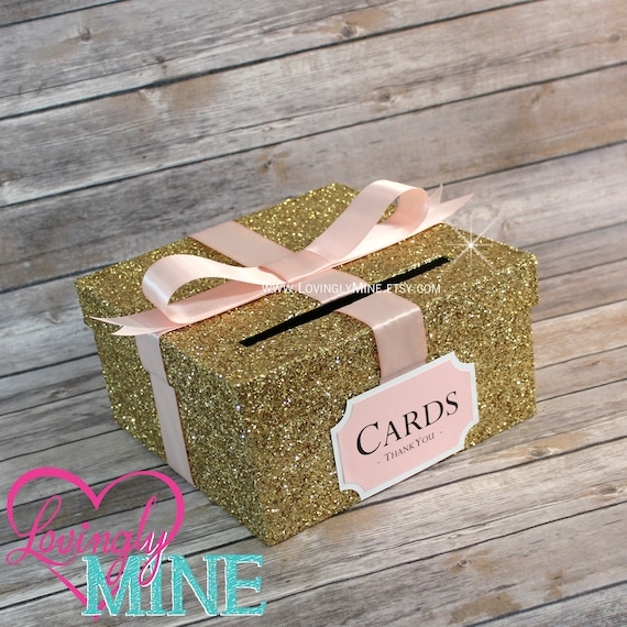 Card box glitter gold blush pink white gift money box for card box glitter gold blush pink white gift money box for any event baby shower wedding bridal shower birthday party graduation bookmarktalkfo Image collections