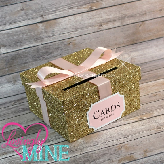Card box glitter gold blush pink white gift money box for card box glitter gold blush pink white gift money box for any event baby shower wedding bridal shower birthday party graduation bookmarktalkfo