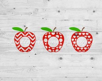 BUY 2 GET 1 FREE, apple monogram svg, teacher appreciation, teacher gift, cut file, dxf, jpeg