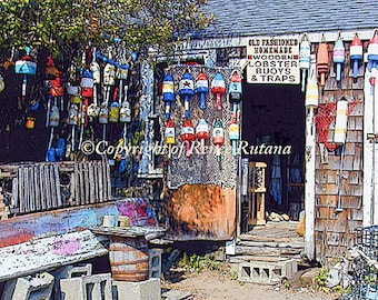 """ROCKPORT Lobster Buoys for Sale Photo 8x10"""" Matted Print"""