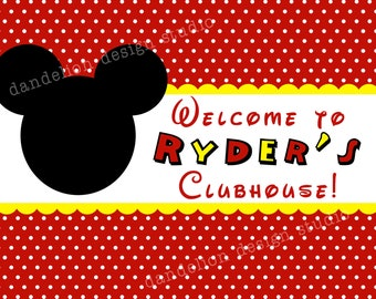 PRINTABLE Welcome Sign - Mickey Mouse Party Collection - Dandelion Design Studio
