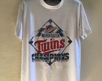 80's 90's Twins World Series T-Shirt W5F3RkzH