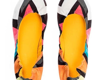 Silence of the Bees Foldable / Rollable slip on, ballet flat, ballerina shoes- Popart printed