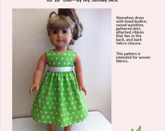 Sewing Pattern for 18 inch Doll Dress