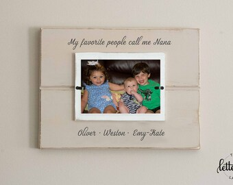 Grandma picture frame, Favorite people call me grandmother, nana, memaw, grandma frame