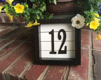 Wooden Table Numbers, Wedding Table Numbers, Wedding Decor, Table Numbers, Farmhouse Wedding, Rustic Table Numbers, Centerpiece, Shiplap