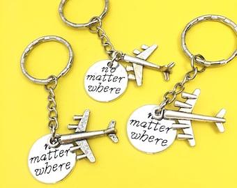 Three Distance Friendship Keychain Set, Set of 3-Best friends keychain - set of three, bff charm,3 bff keychain, set of 3 best friend Gift