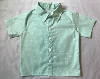 Toddler boy's button down collared dress shirt