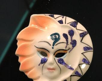 Hand Painted Ceramic Miniature Mardi Gras Mask #2