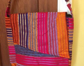Large cross body hand made sabra bag