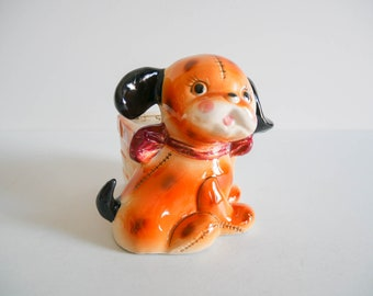Vintage Ceramic Puppy Planter