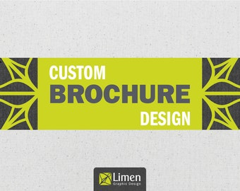Custom Brochure Design, Bi-fold Brochure, Graphic Design, Marketing, Business Brochure, Advertising, Company Brochure, Photography Brochure