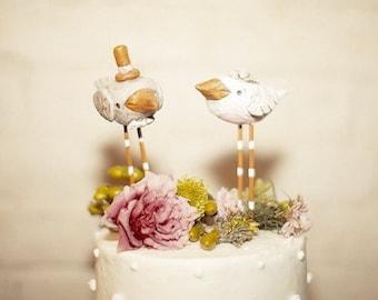 Summer Birds Wedding cake topper