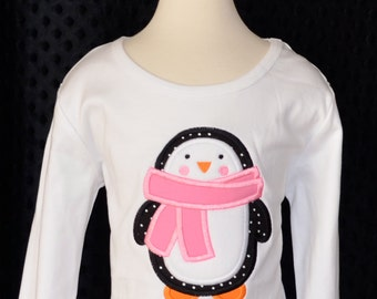 Penguin Applique Shirt or Onesie Boy or Girl