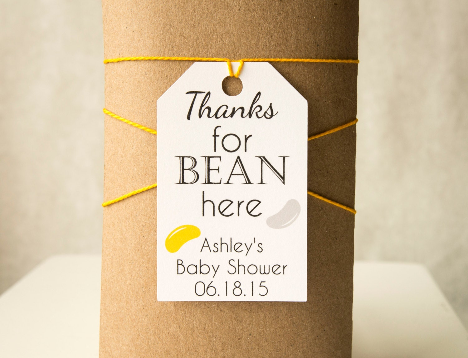 Thanks for Bean Here Tags, Jelly Bean Tags, Candy Favor Tags,Baby ...