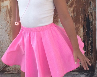 Pink Skirt, Girls Full Circle Skirt, Cute Skirt, Toddler Skirt, Full Circle Skirt, Twirling Skirt