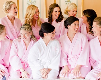 Bridal Party Robes, Monogram Robes for Bridesmaids, Bridesmaid Gift, Bridesmaid Robes, Wedding Robes, Bride Robe (RB03)