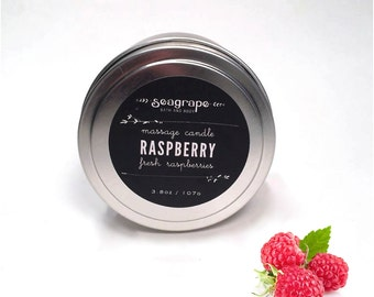 Sexy Raspberry Kissable Soy Massage Candle