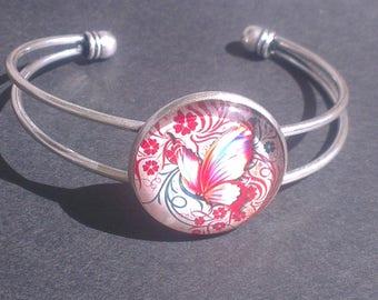 Butterfly, adjustable bracelet.