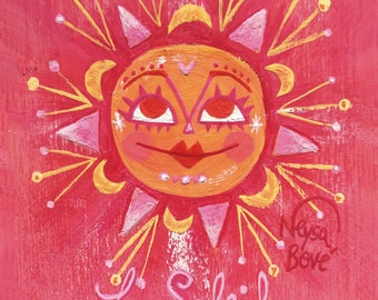 Le Soleil, French Sun Greeting Card. From the sunshine series by Neysa Bové