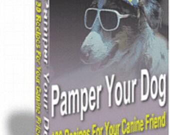 eBook - 130 Dog treat recipes - Pamper your dog 140 page eBook - recipes for canines - homemade dog treats - dog recipes - dog food ebook