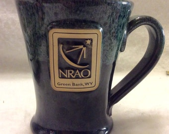 Sunset Hill Stoneware NRAQ Green Bank, WV collectible mug. Free ship
