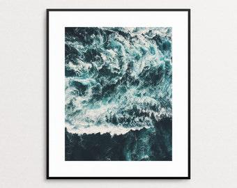 Ocean Waves Print - Coastal Wall Art - Coastal Decor - Ocean Art - Ocean Decor - Ocean Waves - Ocean Photography - Modern Art - Nature Print
