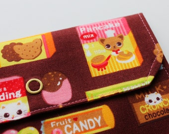 LG Snappy Pouch - Candy chaton et Chihuahua - Brown - nouveau tissu
