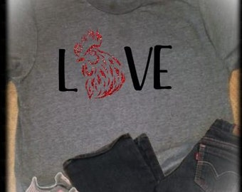I love my roaster T shirt, I love my ladies Funny Chicken Lover, Cute T Shirt Gift, Roaster Lover, Farm Life T Shirt, Roaster T Shirt