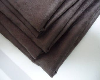 "Taupe suede coupon - 49cm x 50cm - Taupe Brown ""Skin"" quality suede-"